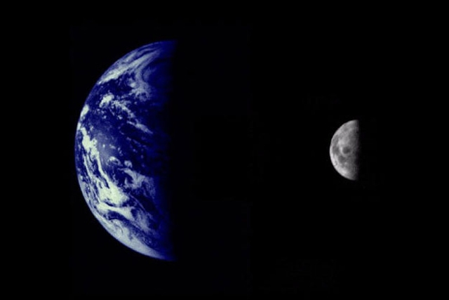 The Earth and Moon Planetary System (Credit: Northwestern University, JPL, NASA)