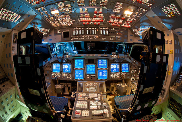 The Flight Deck of Space Shuttle Endeavour (Image Credit & Copyright: Ben Cooper (Launch Photography), Spaceflight Now)