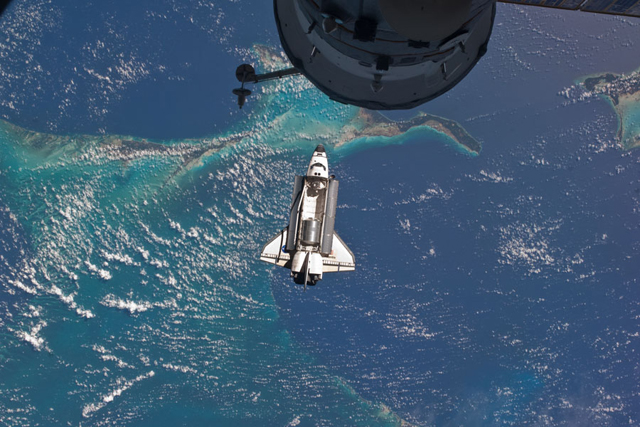 Atlantis' Last Approach (Credit: ISS Expedition 28 Crew, STS-135 Crew, NASA)