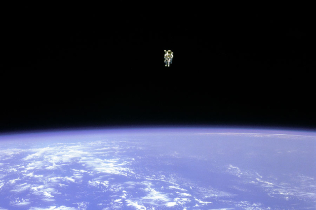 To Fly Free in Space (Credit: STS-41B, NASA)
