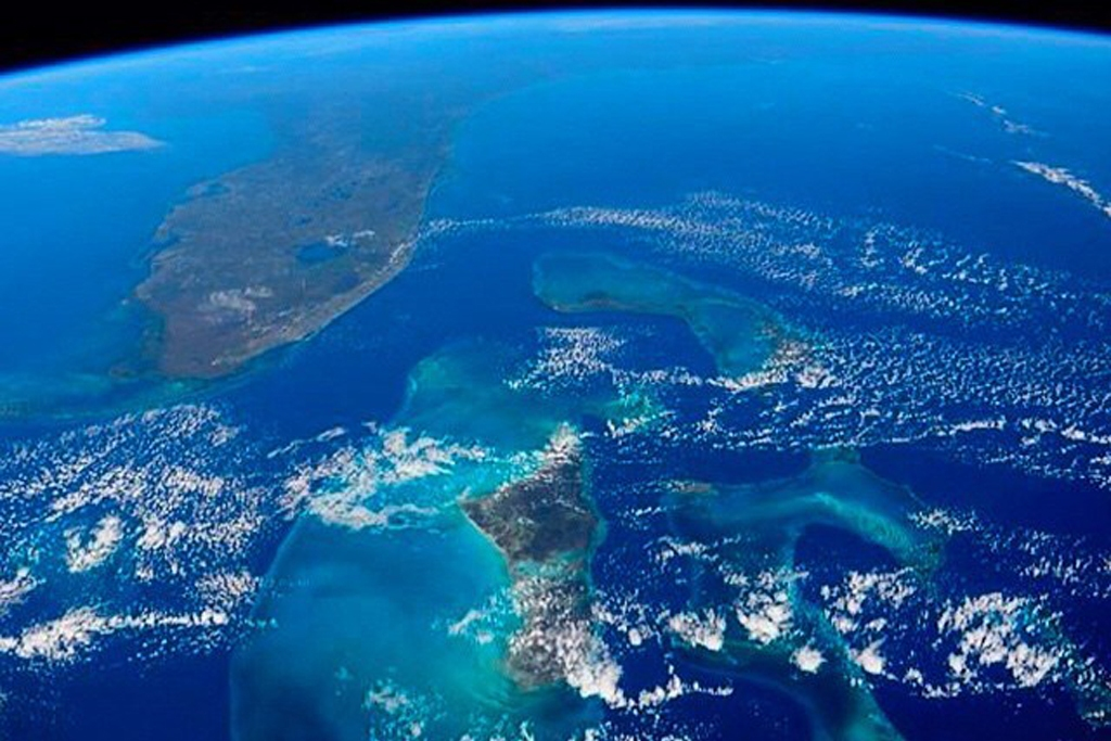 shot of Earth - Florida and the Bahamas - from the International Space Station (Photo Credit: Reid Wiseman, NASA)