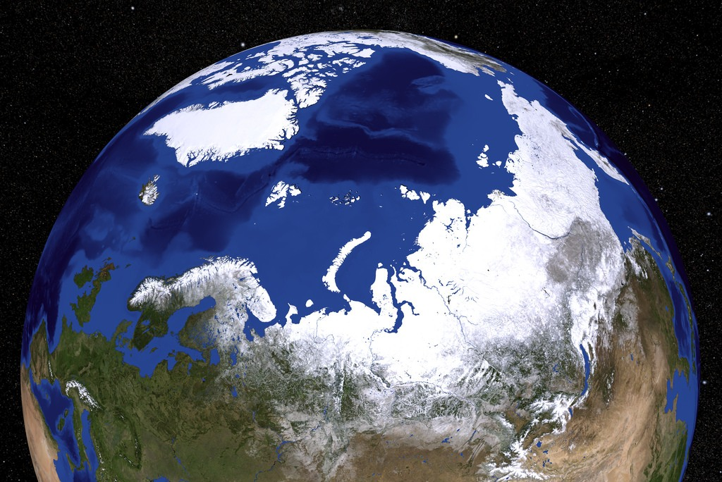 North Pole is in the middle of the Arctic Ocean (Photo Credit: NASA/Goddard Space Flight Center Scientific Visualization Studio)