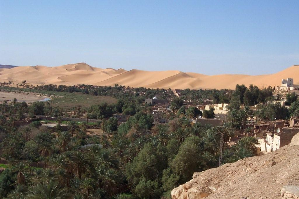 ALGERIA: view of the oasis village of Beni Abbes (Photo Credit: Central Intelligence Agency (CIA) - The World Factbook)