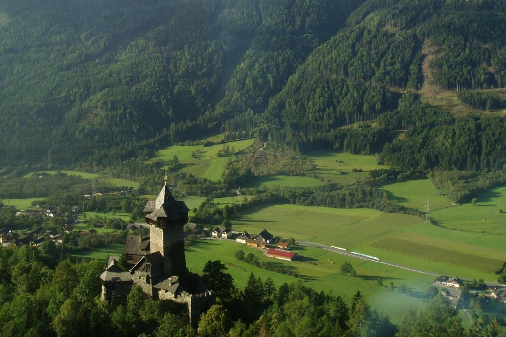AUSTRIA: A castle and mountain valley in the Alps (Photo Credit: Central Intelligence Agency (CIA) - The World Factbook)