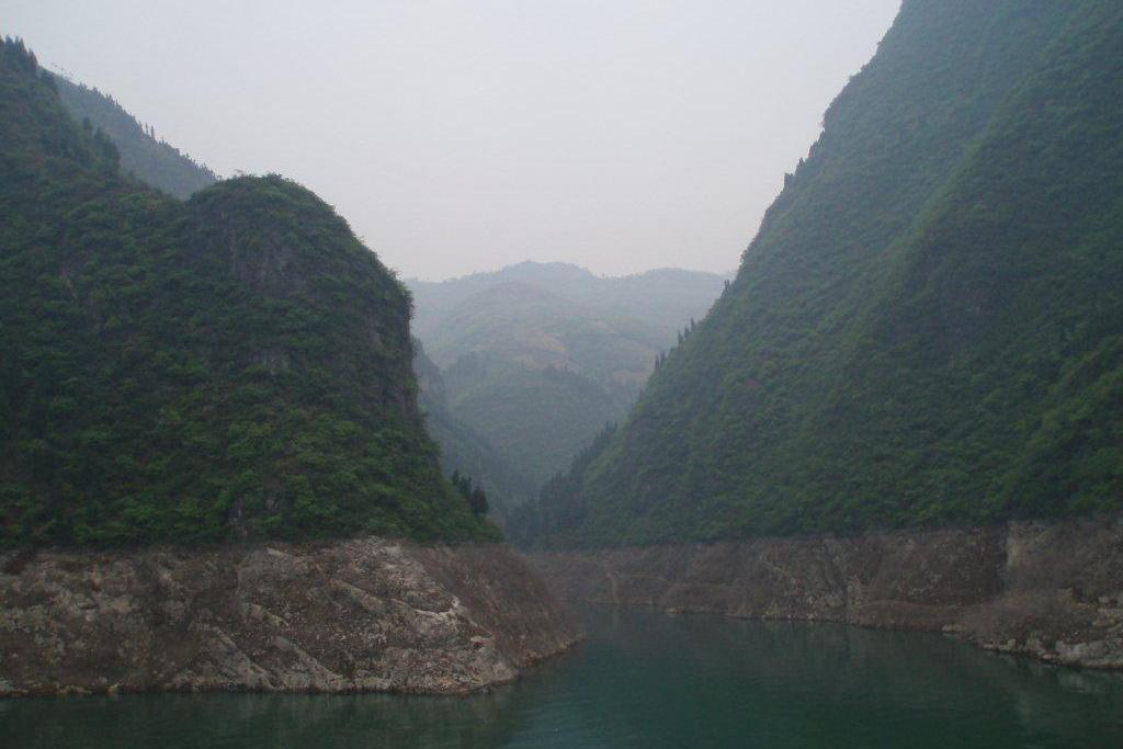 CHINA: The Dragon Gate Gorge is one of the Three Lesser Gorges near Wushan on the Daning River, a tributary of the Yangtze River (Photo Credit: Central Intelligence Agency (CIA) - The World Factbook)