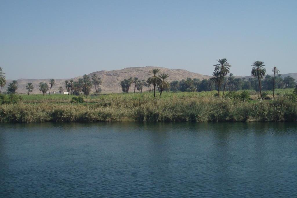 EGYPT: View along the Nile River south of Edfu (Photo Credit: Central Intelligence Agency (CIA) - The World Factbook)