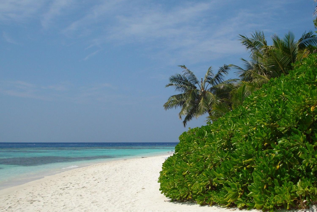 MALDIVES: An inviting beach at a resort near Male (Photo Credit: Central Intelligence Agency (CIA) - The World Factbook)