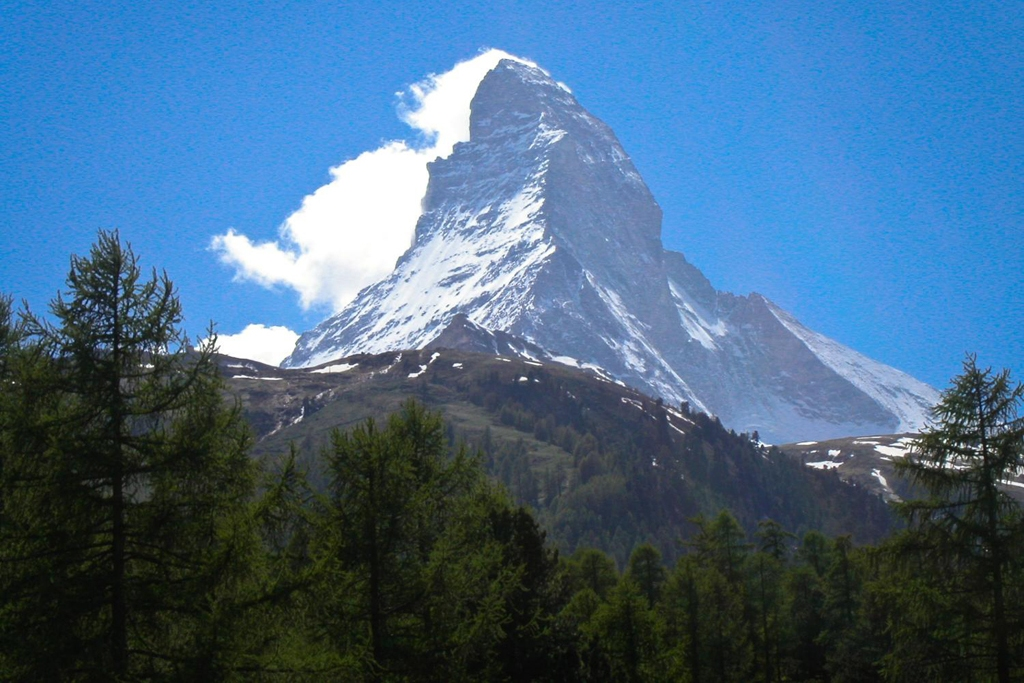 SWITZERLAND: The Matterhorn is a pyramidal mountain on the border between Switzerland and Italy (Photo Credit: Central Intelligence Agency (CIA) - The World Factbook)