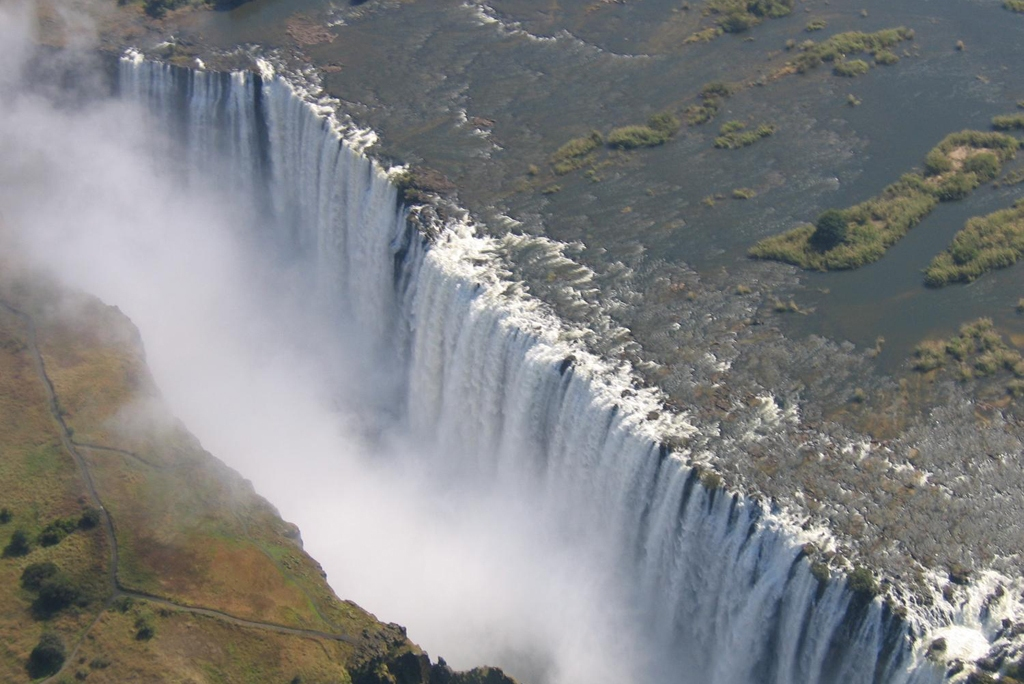 ZAMBIA: View of Victoria Falls on the Zambezi River as seen from the Zambian (eastern) side (Photo Credit: Central Intelligence Agency (CIA) - The World Factbook)